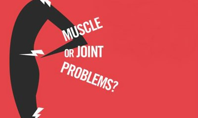 Person affected by muscle and joint problems