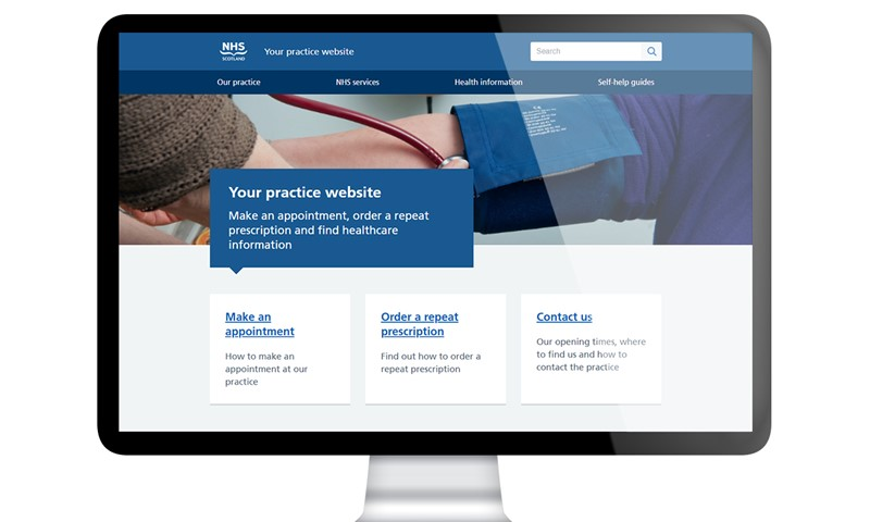 image of the homepage of a gp.scot website